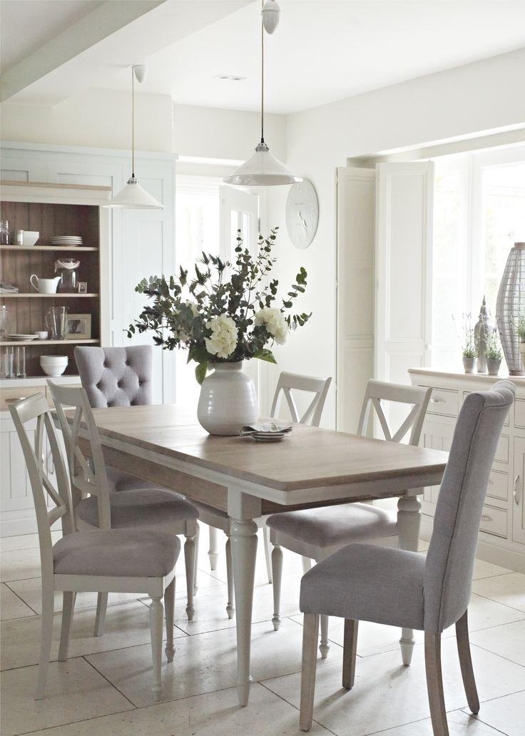 Best 25+ White Dining Table Ideas On Pinterest | White Dining Room Within Most Recently Released Dining Tables Chairs (Image 6 of 20)