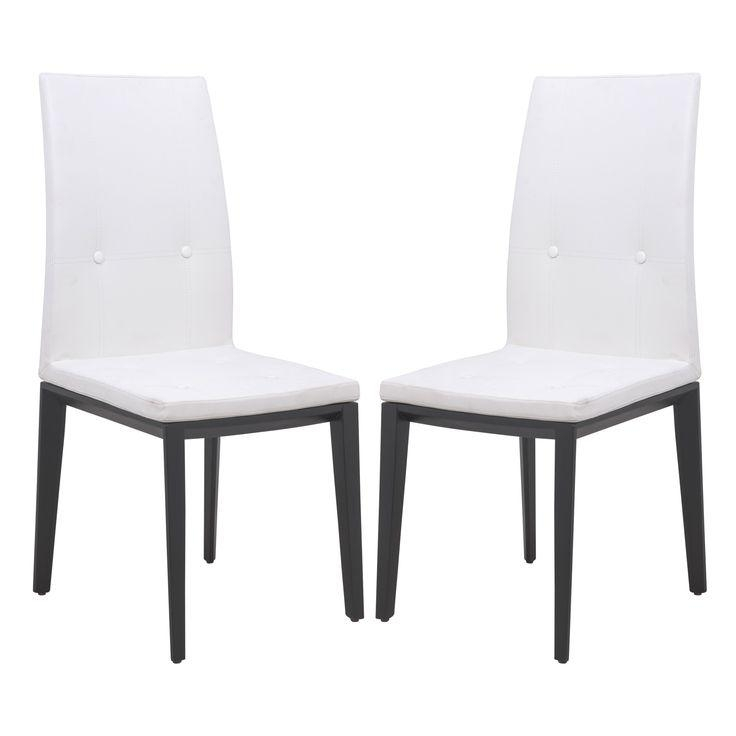 Best 25+ White Leather Dining Chairs Ideas On Pinterest | Leather For Recent White Leather Dining Room Chairs (View 11 of 20)