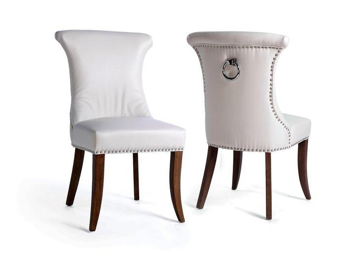 Best 25+ White Leather Dining Chairs Ideas On Pinterest | Leather Inside Current White Leather Dining Room Chairs (View 5 of 20)