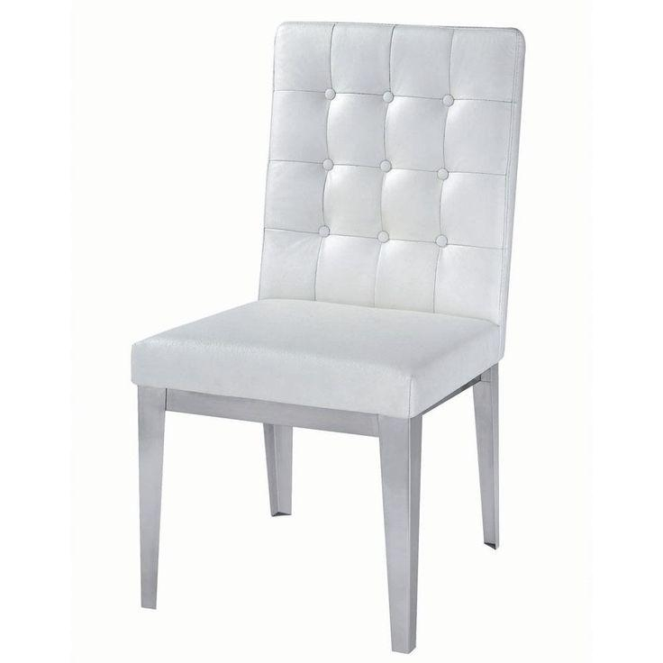 Best 25+ White Leather Dining Chairs Ideas On Pinterest | Leather Inside White Leather Dining Chairs (Image 5 of 20)
