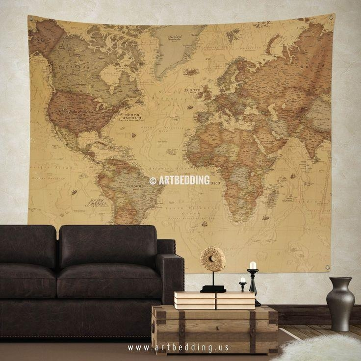 Best 25+ World Map Wall Decor Ideas On Pinterest | World Map With Vintage Map Wall Art (View 17 of 20)