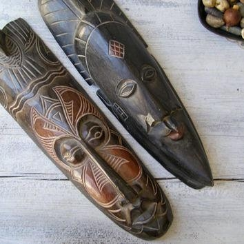 Best African Tribal Masks Products On Wanelo For Wooden Tribal Mask Wall Art (View 2 of 20)
