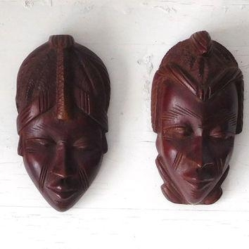 Best African Wood Masks Products On Wanelo With Wooden Tribal Mask Wall Art (Image 11 of 20)