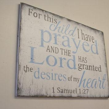 Best Baptism Art Products On Wanelo Regarding For This Child I Have Prayed Wall Art (Image 5 of 20)