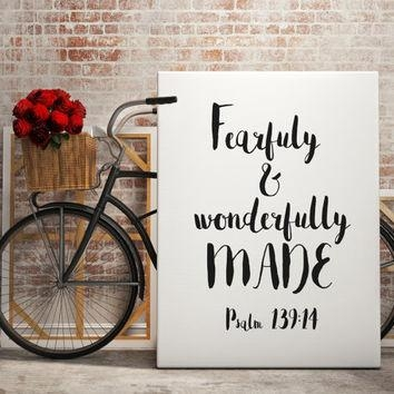 Best Bible Wall Quotes Products On Wanelo Regarding Fearfully And Wonderfully Made Wall Art (Image 7 of 20)