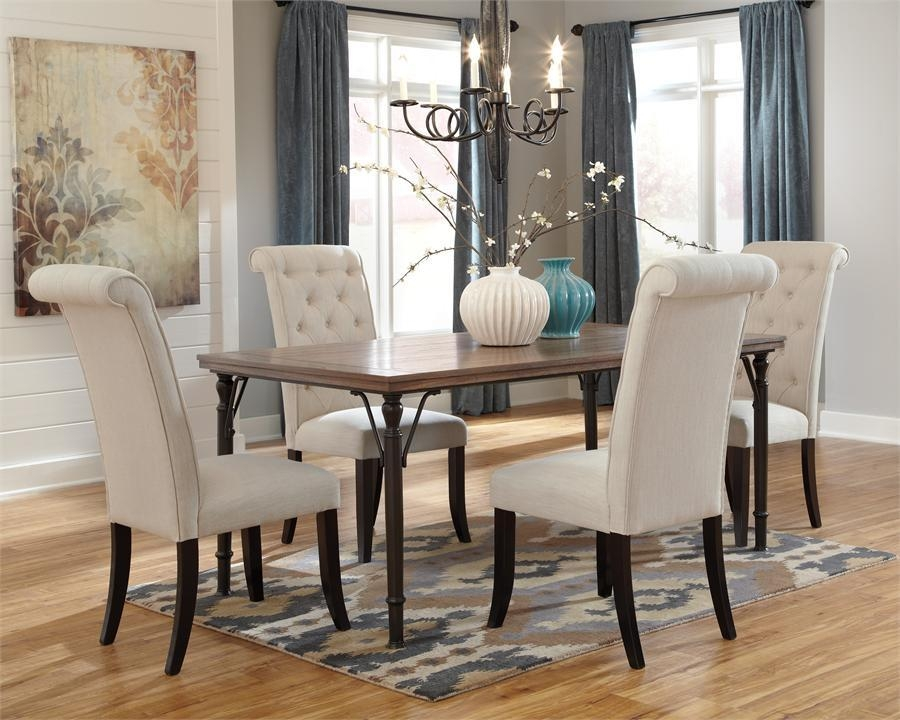 Best Cloth Dining Room Chairs With White Fabric Dining Chairs Intended For Most Popular Fabric Dining Room Chairs (Image 6 of 20)