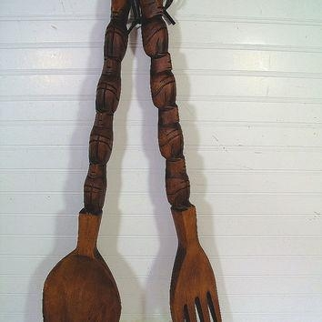 Best Decorative Wooden Spoons Products On Wanelo Regarding Wooden Fork And Spoon Wall Art (Image 7 of 20)