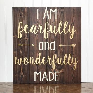Best Fearfully And Wonderfully Made Products On Wanelo Pertaining To Fearfully And Wonderfully Made Wall Art (Image 10 of 20)