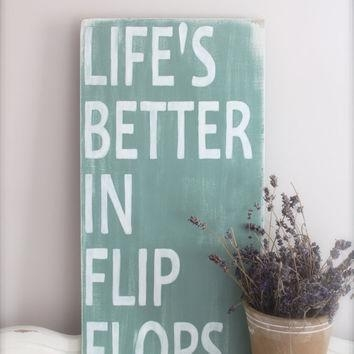 Best Flip Flop Sign Products On Wanelo With Regard To Flip Flop Wall Art (Image 6 of 20)
