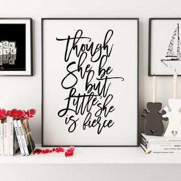 Best Little But Fierce Wall Art Products On Wanelo Throughout Inspirational Wall Art For Girls (Image 11 of 20)