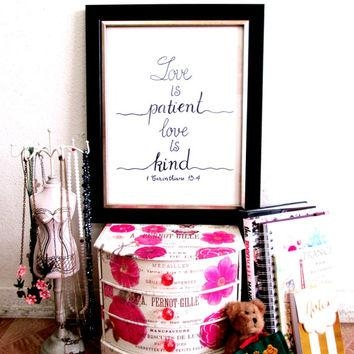 Best Love Is Patient Love Is Kind Art Products On Wanelo For Love Is Patient Love Is Kind Wall Art (Image 5 of 20)