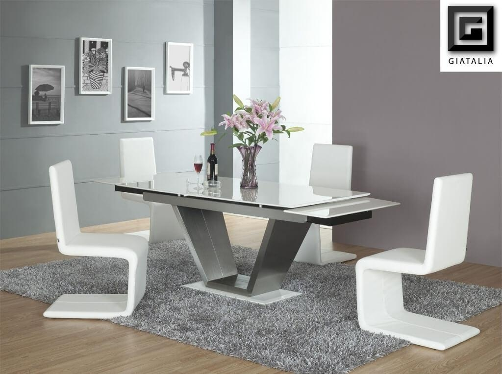 Best Modern Glass Dining Room Table Glass Dining Room Table Round Throughout Most Current Contemporary Dining Room Tables And Chairs (Image 7 of 20)