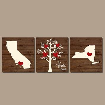 Best Personalized Tree Initials Wall Art Products On Wanelo Regarding Custom Last Name Wall Art (Image 4 of 20)