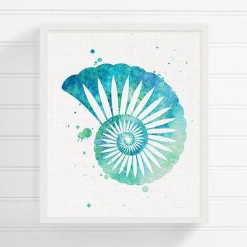 Best Sea Shells Wall Art Products On Wanelo Pertaining To Seashell Prints Wall Art (Image 6 of 20)