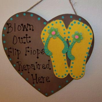 Best Summer Flip Flop Decorations Products On Wanelo With Flip Flop Wall Art (Image 7 of 20)
