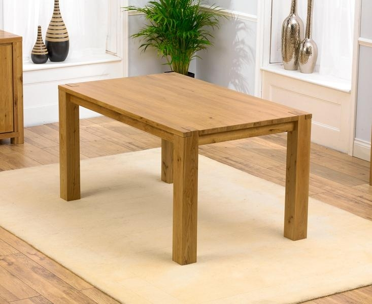 Best Tempo Solid Oak Dining Table | Oak Furniture Solutions For Current Oak Dining Tables (Image 8 of 20)