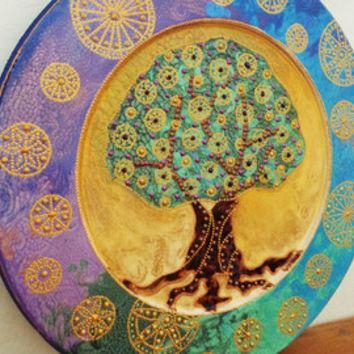Best Tree Of Life Wall Art Decoration Products On Wanelo In Decorative Plates For Wall Art (Image 7 of 20)