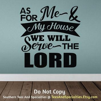 Best Wall Vinyl Scripture Products On Wanelo Intended For As For Me And My House Vinyl Wall Art (Image 9 of 20)