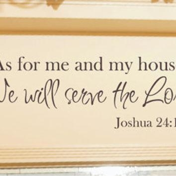 Best Wall Vinyl Scripture Products On Wanelo Within As For Me And My House Vinyl Wall Art (Image 10 of 20)
