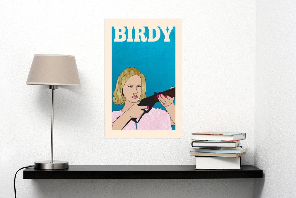Betty Draper Mad Men Poster Wall Art Diy Printable Regarding Mad Men Wall Art (Image 2 of 20)