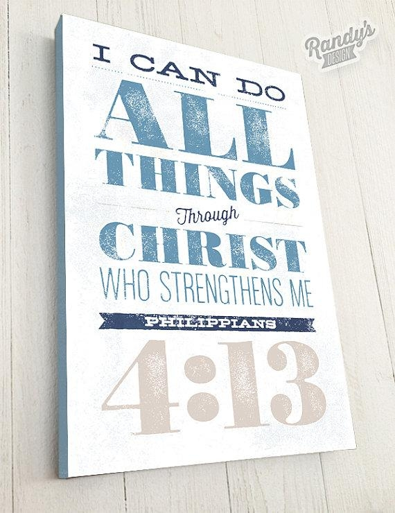 Bible Verse On Canvas Typography Scripture Wall Art With Christian Wall Art Canvas (Image 9 of 20)