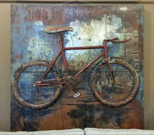Bicycle – Metal Three Dimensional Wall Art For Metal Bicycle Art (Image 4 of 20)