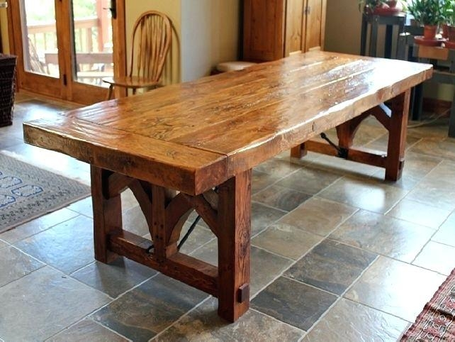 Big Rustic Dining Room Tables Rustic Dining Room Tables Canada With Most Current Rustic Oak Dining Tables (Image 2 of 20)