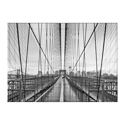 Bild Poster Walking On Brooklyn Bridge 70X50 Cm – Ikea Regarding Ikea Brooklyn Bridge Wall Art (View 4 of 20)