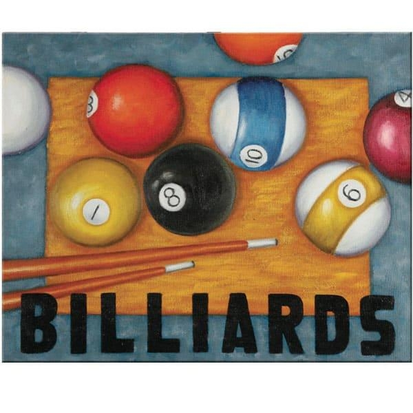 Billiards Wall Art With Billiard Wall Art (View 3 of 20)