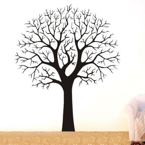 Birch Tree Wall Decal | Ebay With Regard To Oak Tree Vinyl Wall Art (Image 15 of 20)