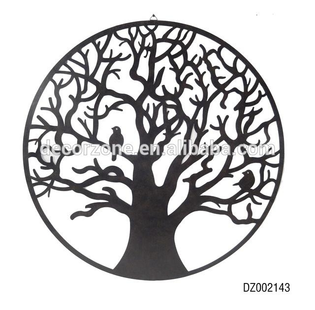 Bird And Tree Metal Wall Art Decor – Buy Tree Metal Wall Art Decor Intended For Iron Tree Wall Art (View 18 of 20)