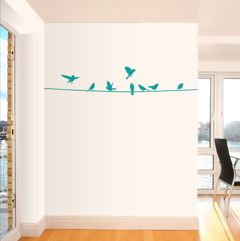 Birds On A Wire Wall Decal Pertaining To Birds On A Wire Wall Art (View 9 of 20)