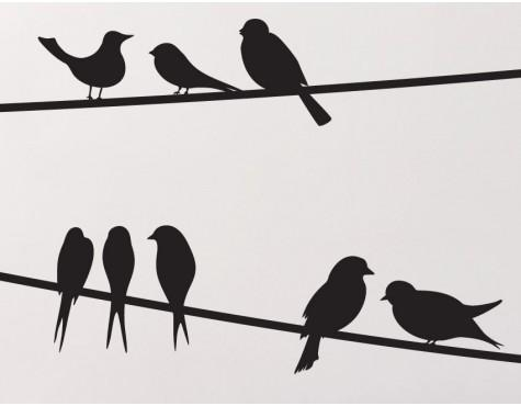 Birds On A Wire Wall Decals – Buy These For Your Home Online Throughout Birds On A Wire Wall Art (View 10 of 20)