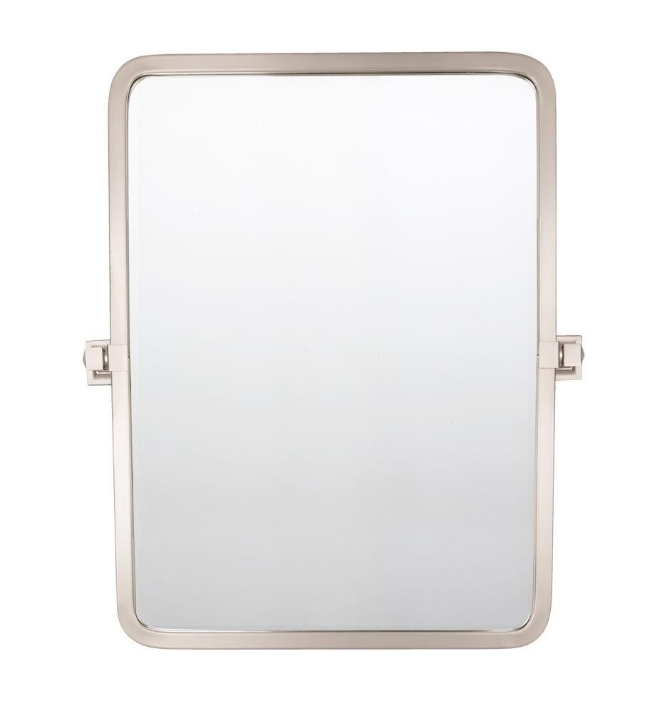 Bixby Rounded Rectangle Pivot Mirror | Rejuvenation In Pivot Mirrors For Bathroom (Image 15 of 20)