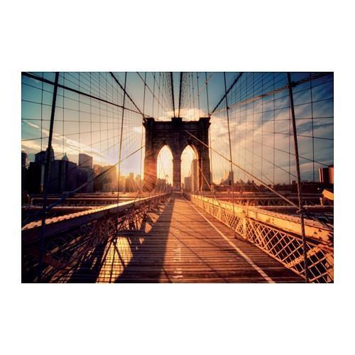 Björksta Picture Brooklyn Bridge At Sunset 118X78 Cm – Ikea Within Ikea Brooklyn Bridge Wall Art (View 18 of 20)