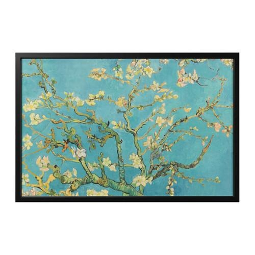 Björksta Picture With Frame Almond Blossom/black 78X118 Cm – Ikea For Ikea Wall Art Canvas (View 16 of 20)