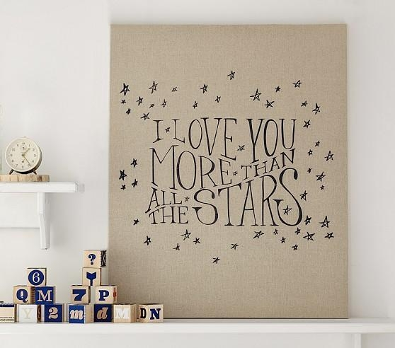 Black And Beige Linen Canvas Nursery Art For I Love You More Wall Art (Image 6 of 20)
