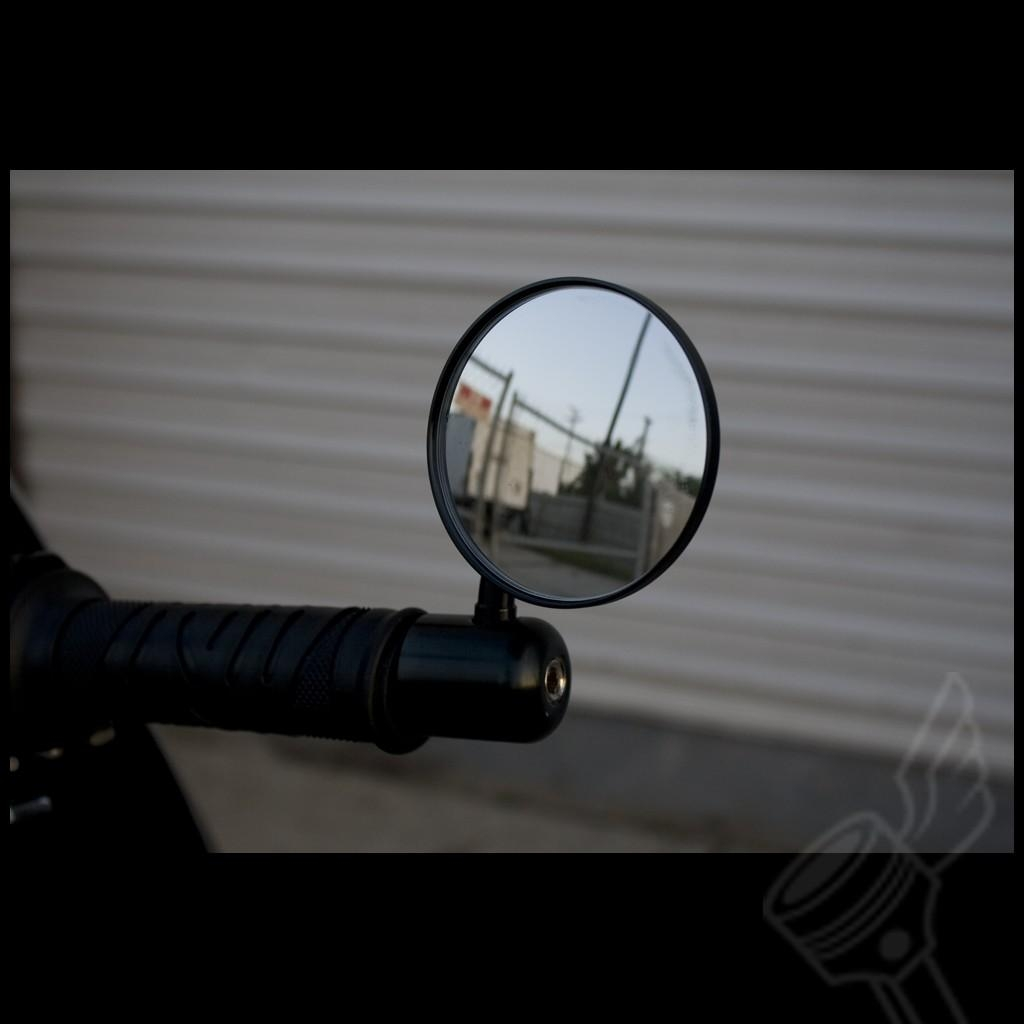 "Black Dcc Originals Aluminum Cnc Bar End Mirror For 7/8"" Handlebars Regarding Orlando Custom Mirrors (Image 10 of 20)"