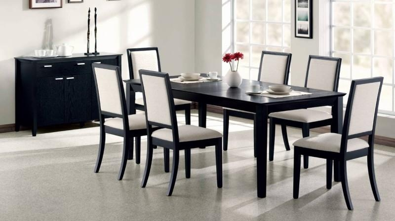 Black Finish Extendable Dining Table – C119201 – Contemporary With 2017 Black Extending Dining Tables (View 7 of 20)