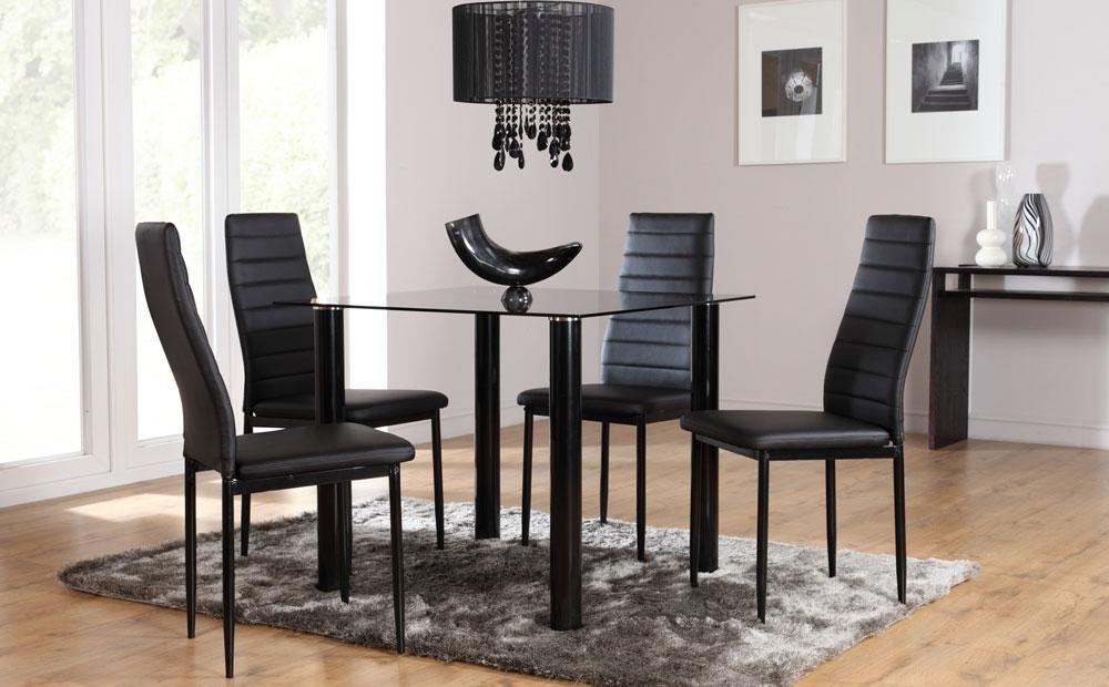 Black Glass Dining Room Sets – Tips To Choose Glass Dining Room With Newest Square Black Glass Dining Tables (Image 5 of 20)