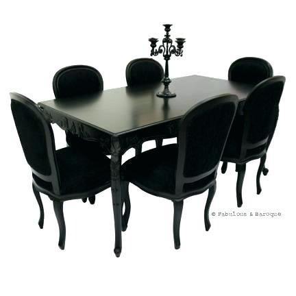 Black Gloss Extending Dining Table And Chairs Arctic White Within Most Recently Released Glass Extendable Dining Tables And 6 Chairs (Image 4 of 20)