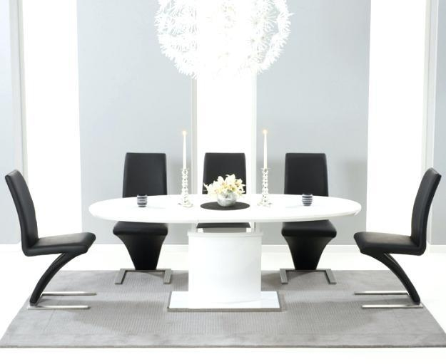 Black Gloss Extending Dining Table – Mitventures (Image 3 of 20)