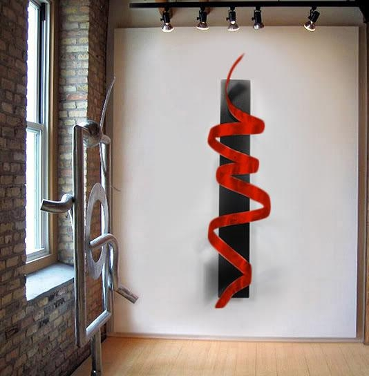Black Knight Red – Black & Red 3D Metal Wall Art Sculpture Accent Throughout 3D Metal Wall Art (Image 6 of 20)