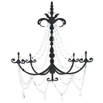 Black Metal Chandelier Wall Decor With From Hobby Lobby | Gnarly In Metal Chandelier Wall Art (Photo 3 of 20)