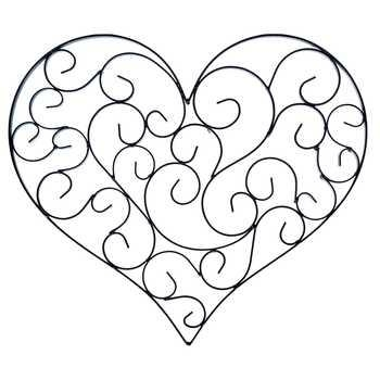 Black Swirly Heart Metal Wall Decor | Hobby Lobby | 150609 With Heart Shaped Metal Wall Art (View 3 of 20)