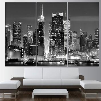 Black White New York City Skyline Murals – Wall Murals You'll Love Throughout New York Skyline Canvas Black And White Wall Art (Image 4 of 20)