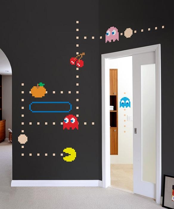 Blik Pac Man Wall Decals Within Blik Wall Art (Image 9 of 20)