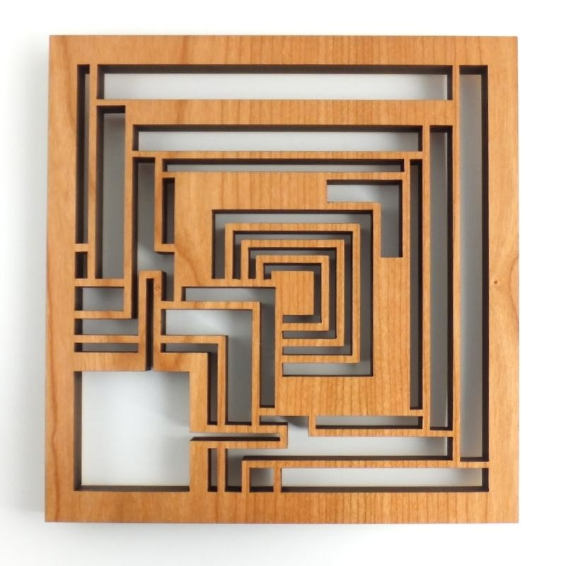 Block Trivet For Frank Lloyd Wright Wall Art (Image 6 of 20)