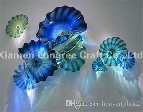 Blown Glass Art Glass Wall Plates Italian Design Glass Wall Art Inside Italian Glass Wall Art (Image 7 of 20)