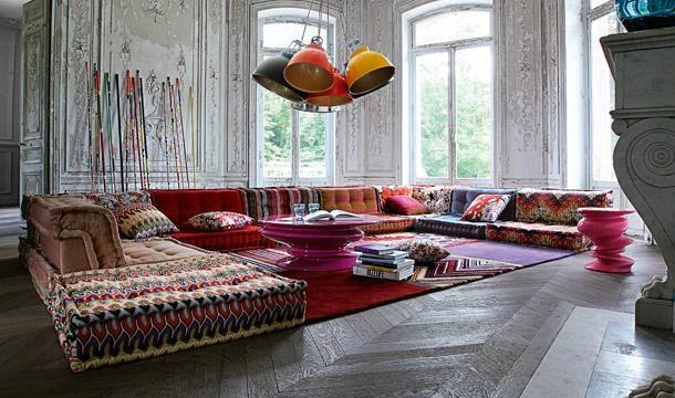 Bohemian Living Room: Roche Bobois Mah Jong Modular Sofa | Decor Pertaining To Roche Bobois Mah Jong Sofas (View 4 of 20)